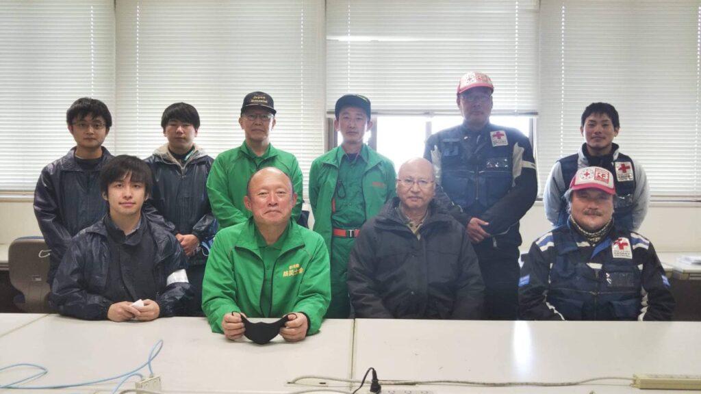 香川大学防災無線局、防災士会とアマチュア無線合同訓練の様子